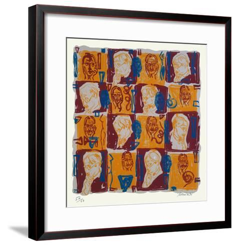 Hommage a Paul Valery I-Jean Pierre Formica-Framed Art Print