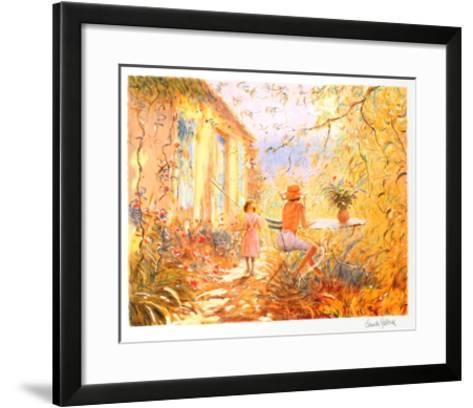 Dans le Jardin-Claude Fossoux-Framed Art Print