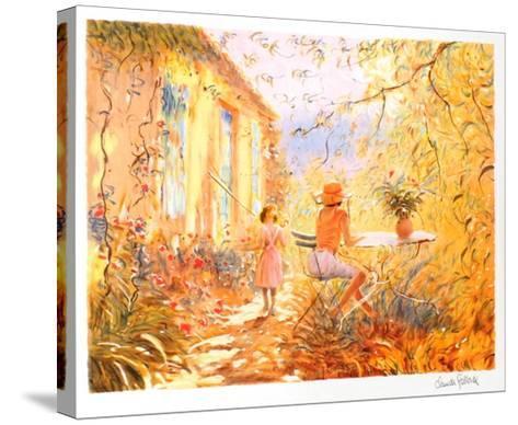 Dans le Jardin-Claude Fossoux-Stretched Canvas Print