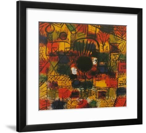 Composotion with Black Focus-Paul Klee-Framed Art Print