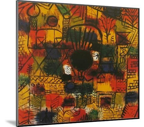 Composotion with Black Focus-Paul Klee-Mounted Art Print