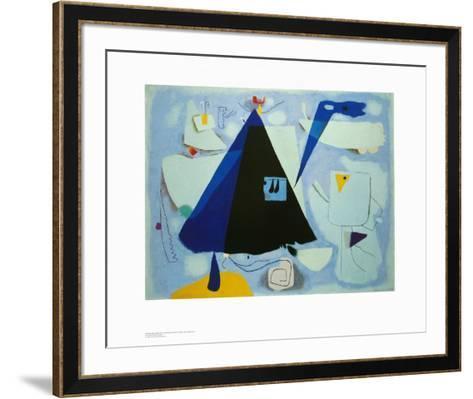 The Black Tent-Willi Baumeister-Framed Art Print