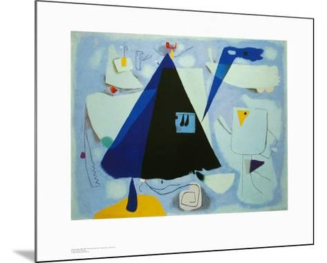 The Black Tent-Willi Baumeister-Mounted Art Print