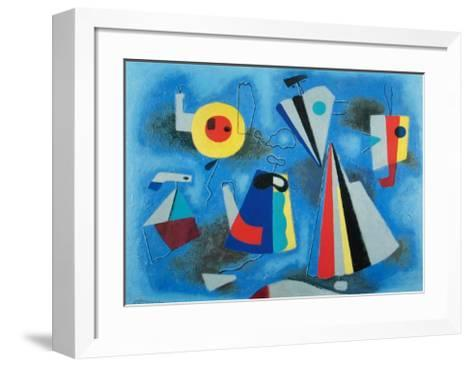 Shapes on Blue-Willi Baumeister-Framed Art Print