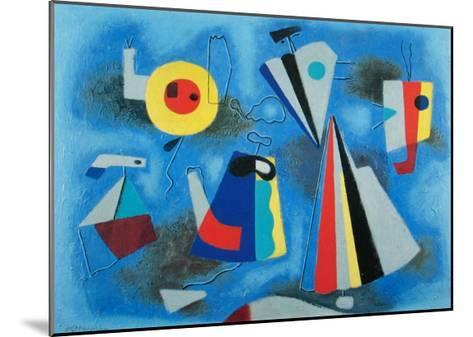 Shapes on Blue-Willi Baumeister-Mounted Art Print