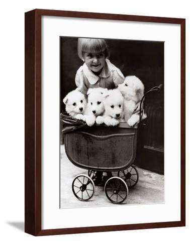 A Fine Family--Framed Art Print