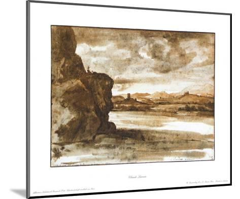 Landscape at the Tiber in the North of Rome-Claude Lorraine-Mounted Collectable Print