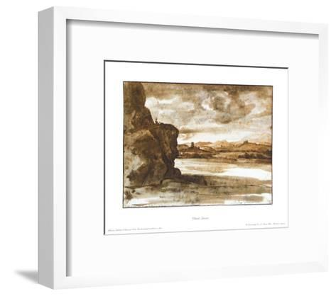 Landscape at the Tiber in the North of Rome-Claude Lorraine-Framed Art Print