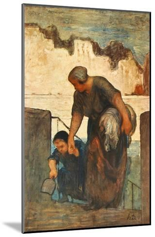The Laundress-Honore Daumier-Mounted Collectable Print