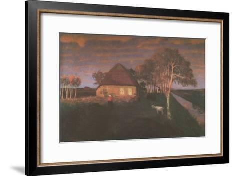 Kate in Gloaming in the Evening-Otto Modersohn-Framed Art Print