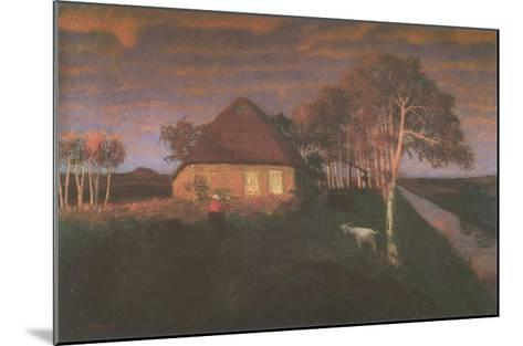 Kate in Gloaming in the Evening-Otto Modersohn-Mounted Art Print