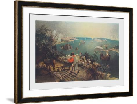 Landscape with the Fall of Ikarus-Pieter Bruegel the Elder-Framed Art Print