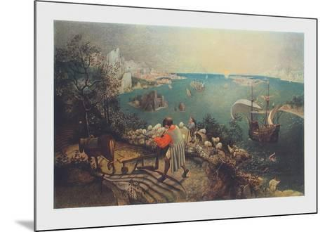 Landscape with the Fall of Ikarus-Pieter Bruegel the Elder-Mounted Collectable Print