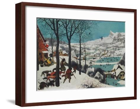 Winter, Hunters in the Snow-Pieter Bruegel the Elder-Framed Art Print