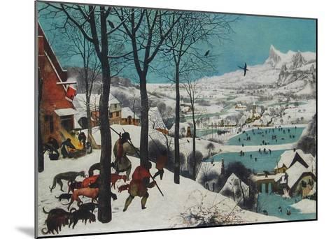 Winter, Hunters in the Snow-Pieter Bruegel the Elder-Mounted Collectable Print