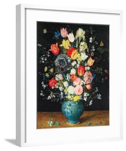 Flowers in a Blue Vase-Jan Brueghel the Elder-Framed Art Print