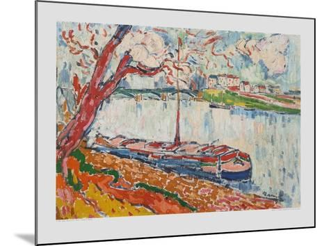 Freighter on the Seine at Chatou-Maurice de Vlaminck-Mounted Collectable Print