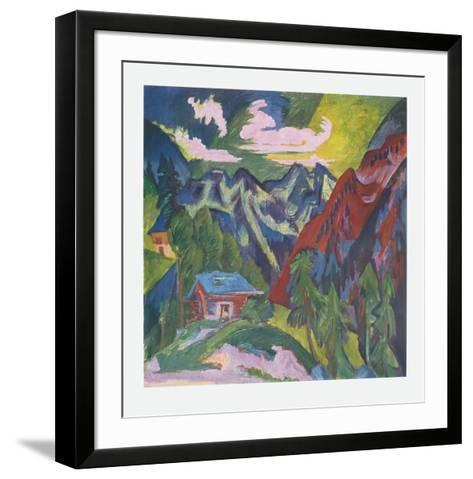 The Mountains at Klosters, Switzerland-Ernst Ludwig Kirchner-Framed Art Print