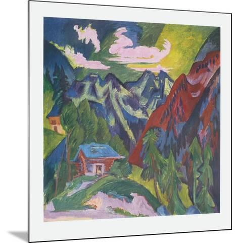 The Mountains at Klosters, Switzerland-Ernst Ludwig Kirchner-Mounted Collectable Print