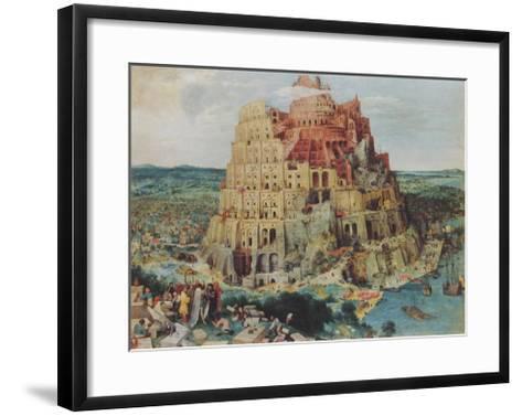 The Tower of Babel-Pieter Bruegel the Elder-Framed Art Print