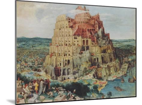The Tower of Babel-Pieter Bruegel the Elder-Mounted Collectable Print
