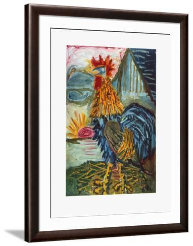 The Cock-Otto Dix-Framed Art Print