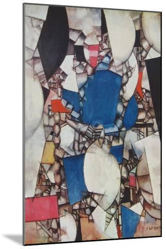 The Woman in Blue-Fernand Leger-Mounted Collectable Print