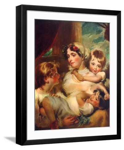 Mrs. Weddel and Children-George Henry Harlow-Framed Art Print