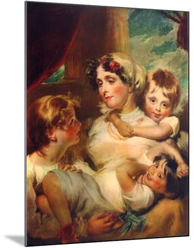 Mrs. Weddel and Children-George Henry Harlow-Mounted Collectable Print