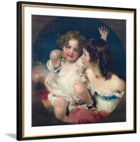 The Two Calmady-Children-Thomas Lawrence-Framed Art Print