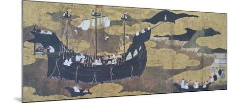 Portuguese Ship Arriving a Japanese Harbour--Mounted Collectable Print