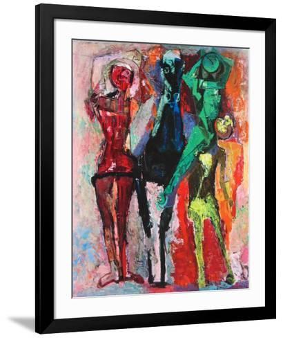 Horse and Jugglers-Marino Marini-Framed Art Print