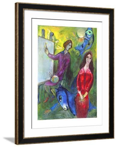The Artist and His Model-Marc Chagall-Framed Art Print