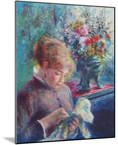 Lady Sewing-Pierre-Auguste Renoir-Mounted Collectable Print
