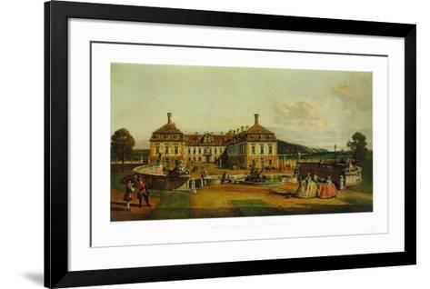 The Imperial Chalet Schlosshof in Marchfeld-Bernardo Bellotto-Framed Art Print