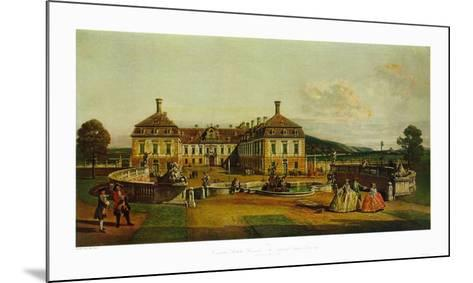 The Imperial Chalet Schlosshof in Marchfeld-Bernardo Bellotto-Mounted Collectable Print