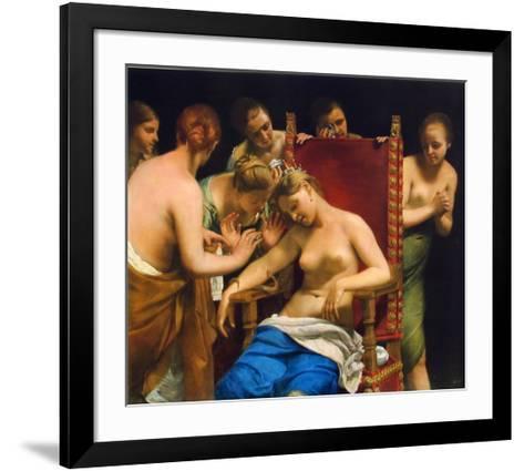 Death of Cleopatra-Guido Cagnacci-Framed Art Print