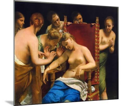 Death of Cleopatra-Guido Cagnacci-Mounted Collectable Print