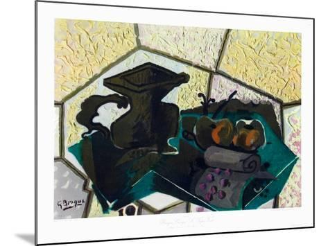 The Green Tablecloth-Georges Braque-Mounted Collectable Print