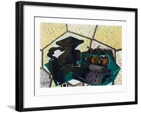 The Green Tablecloth-Georges Braque-Framed Art Print