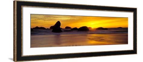 Sea Stack - Bandon - Oregon-John Lawrence-Framed Art Print