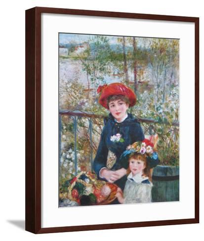 On the Terrasse-Pierre-Auguste Renoir-Framed Art Print