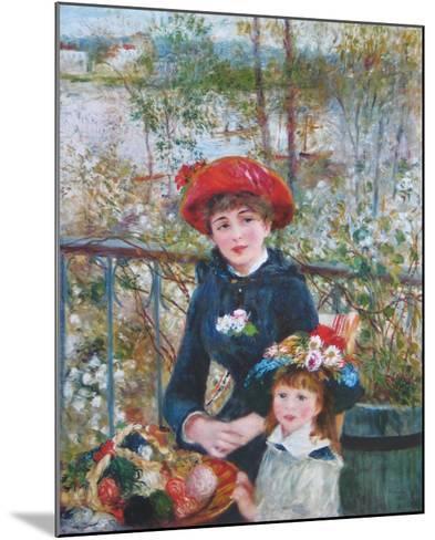 On the Terrasse-Pierre-Auguste Renoir-Mounted Art Print