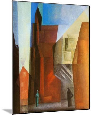 Arch Tower I-Lyonel Feininger-Mounted Art Print