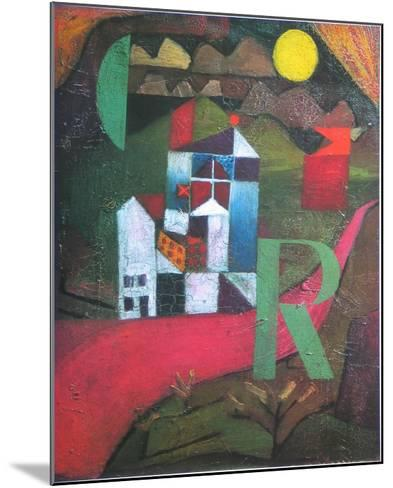 Villa R., 1919-Paul Klee-Mounted Art Print