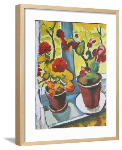 Flowers at the Window, Begonias-Auguste Macke-Framed Art Print