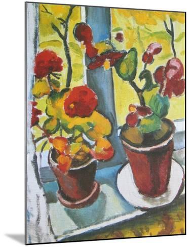 Flowers at the Window, Begonias-Auguste Macke-Mounted Art Print