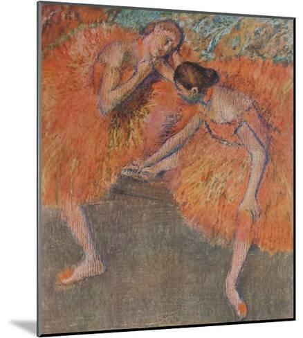 Two Dancers-Edgar Degas-Mounted Collectable Print