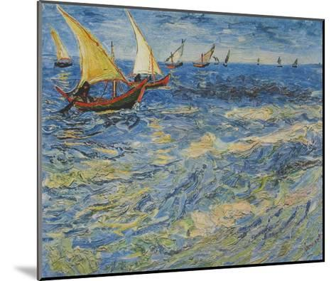 Seascape at Saintes-Maries, c.1888-Vincent van Gogh-Mounted Collectable Print
