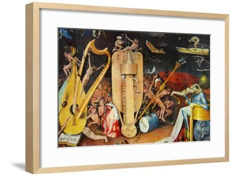 The Musician S Hell-Hieronymus Bosch-Framed Art Print
